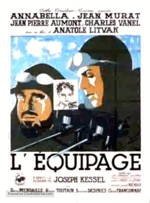 L'équipage - French Movie Poster