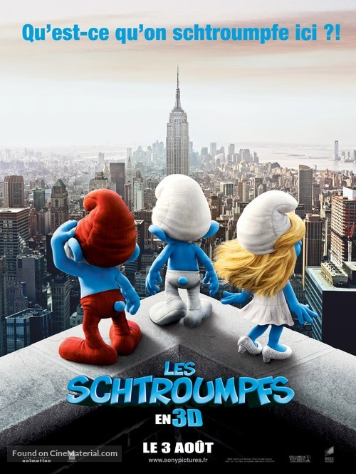 The Smurfs - French Movie Poster