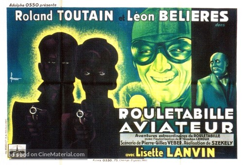 Rouletabille aviateur - French Movie Poster