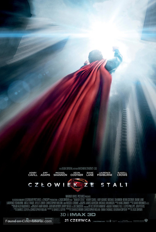 Man of Steel - Polish Movie Poster