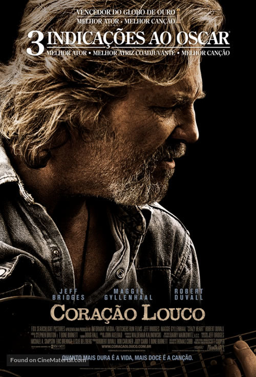 Crazy Heart - Brazilian Movie Poster