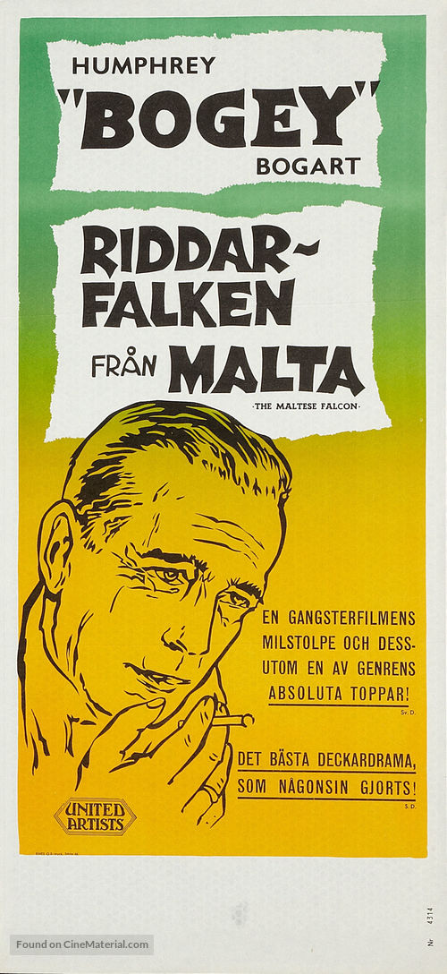 The Maltese Falcon - Swedish Movie Poster