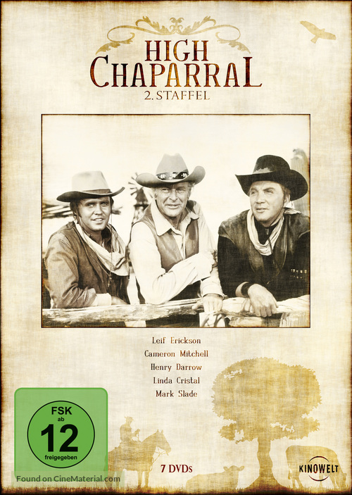 """""""The High Chaparral"""" - German Movie Cover"""