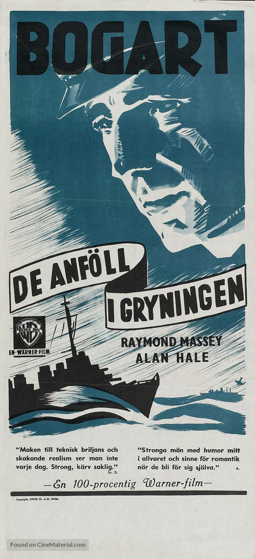 Action in the North Atlantic - Swedish Re-release movie poster