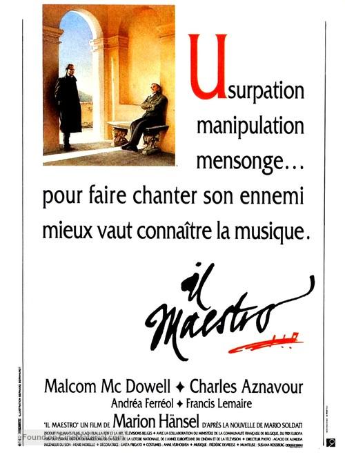 Il maestro - French Movie Poster