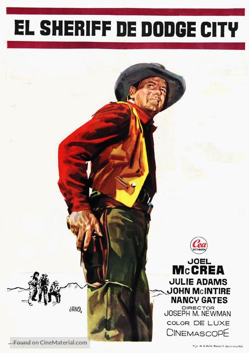 The Gunfight at Dodge City - Spanish Movie Poster