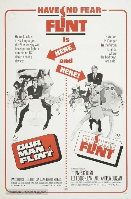 In Like Flint - Combo poster