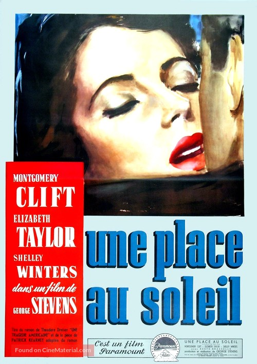 A Place in the Sun - French Movie Poster