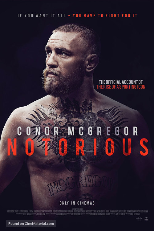 Conor McGregor: Notorious Australian movie poster