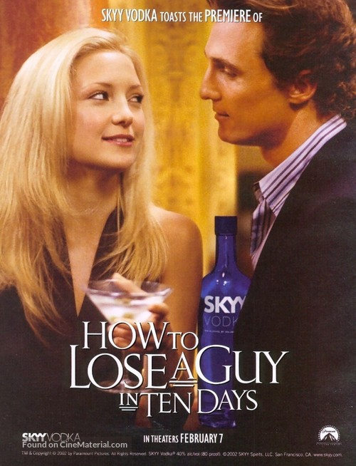 How To Lose A Guy In 10 Days 2003 Movie Poster