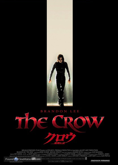 The Crow - Japanese Theatrical movie poster