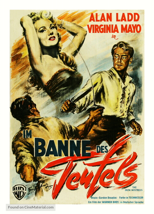 The Iron Mistress - German Movie Poster