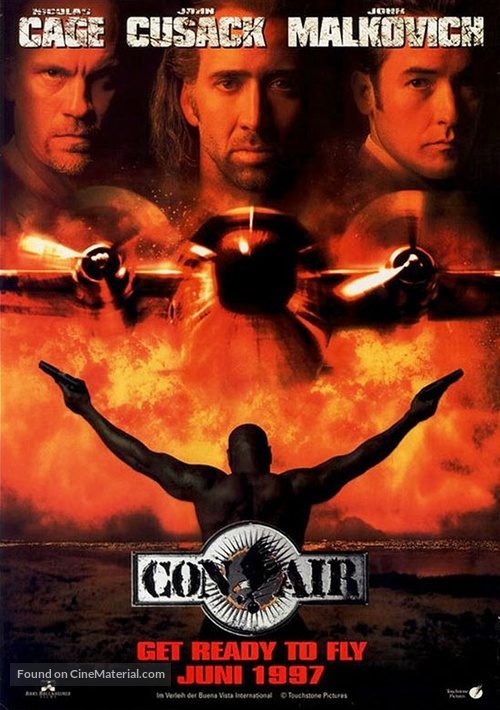 Con Air - German Movie Poster