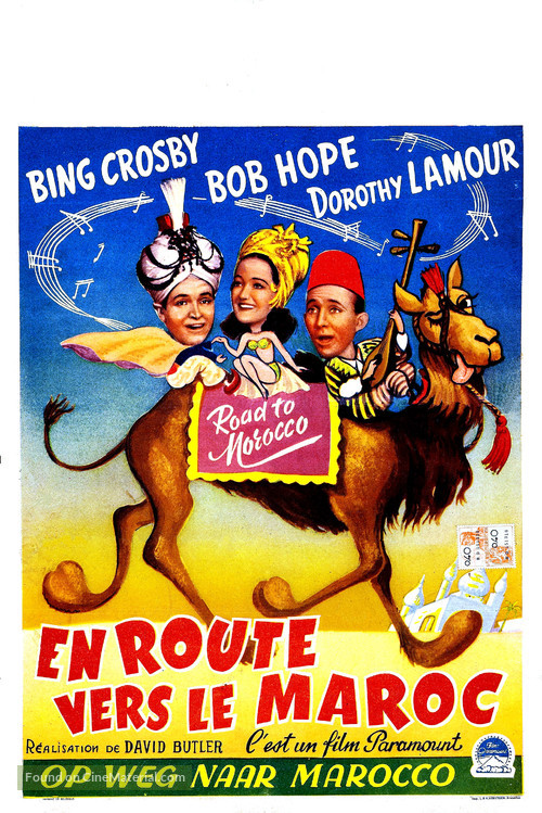 Road to Morocco - Belgian Movie Poster