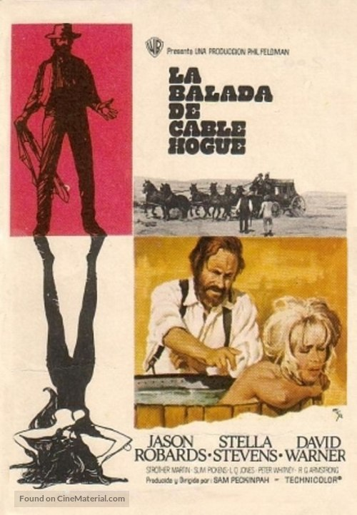 The Ballad of Cable Hogue - Spanish Movie Poster