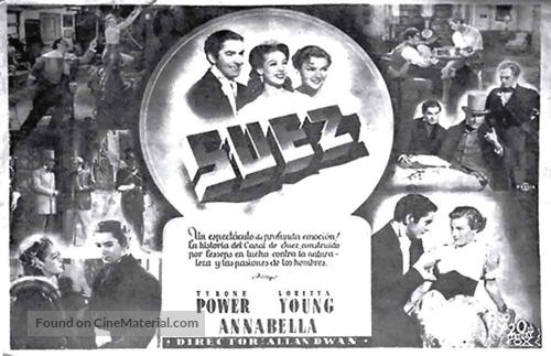 Suez - Spanish poster