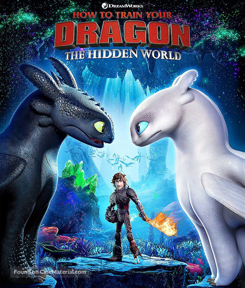 How to Train Your Dragon: The Hidden World - Brazilian Blu-Ray movie cover