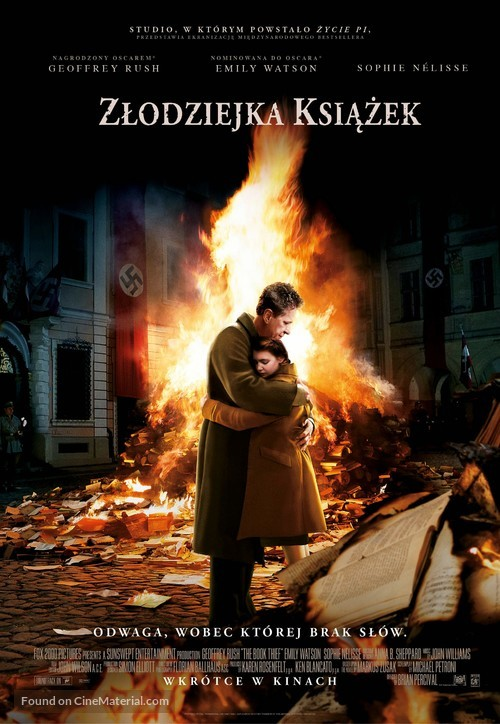 The Book Thief - Polish Movie Poster