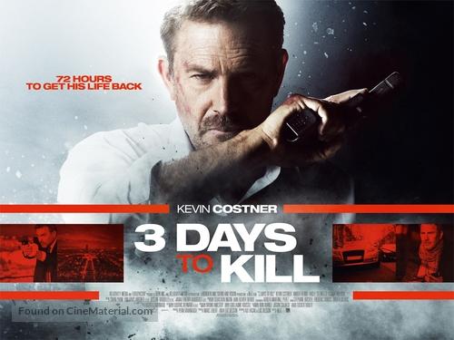 3 Days to Kill - British Movie Poster