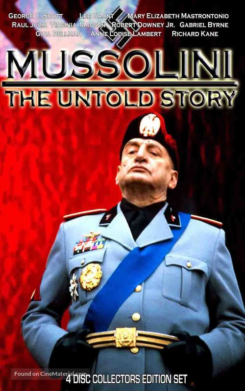 """""""Mussolini: The Untold Story"""" - DVD movie cover"""