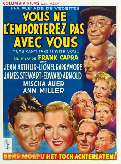 You Can't Take It with You - Belgian Movie Poster