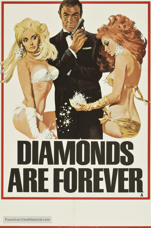 Diamonds Are Forever - British Advance movie poster