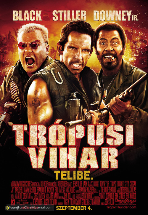Tropic Thunder - Hungarian Movie Poster