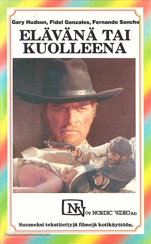 10.000 dollari per un massacro - Finnish VHS movie cover