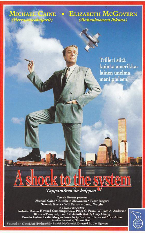 A Shock to the System - Finnish VHS movie cover