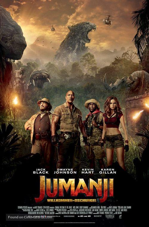 Jumanji: Welcome to the Jungle - German Movie Poster