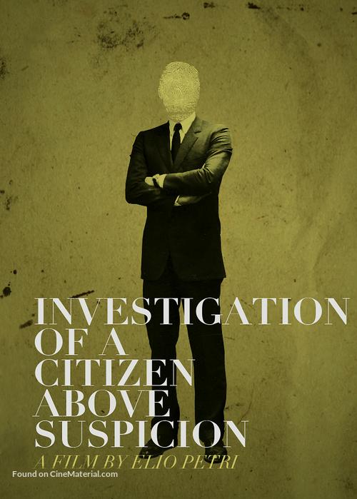 Indagine su un cittadino al di sopra di ogni sospetto - British Movie Cover
