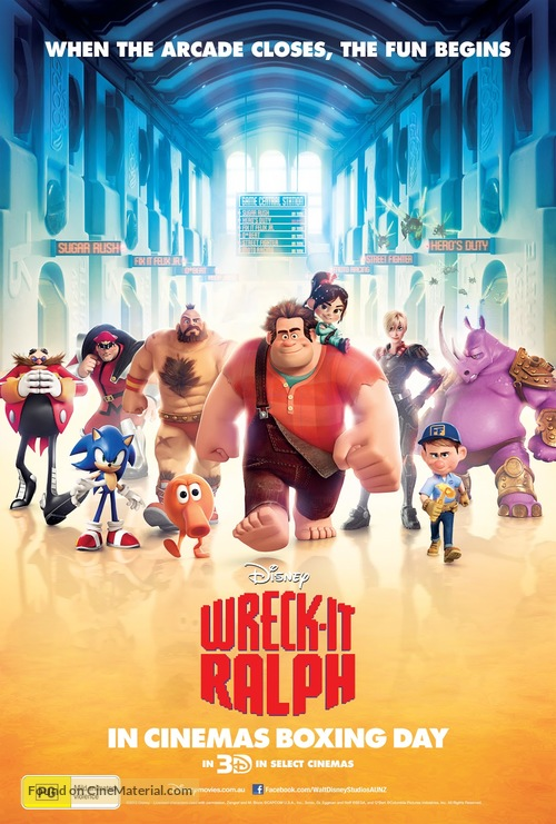 Wreck-It Ralph - Australian Movie Poster