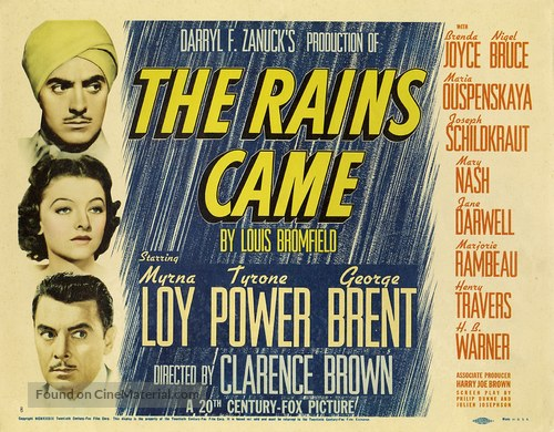 The Rains Came - Movie Poster