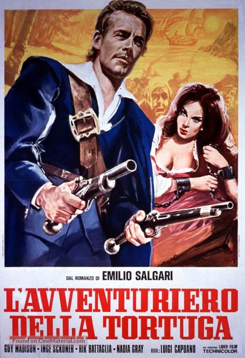 L'avventuriero della Tortuga - Italian Movie Poster