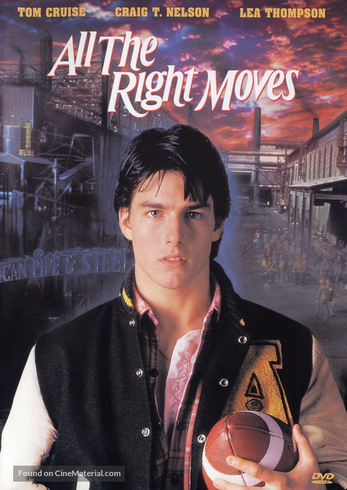 All the Right Moves - DVD movie cover
