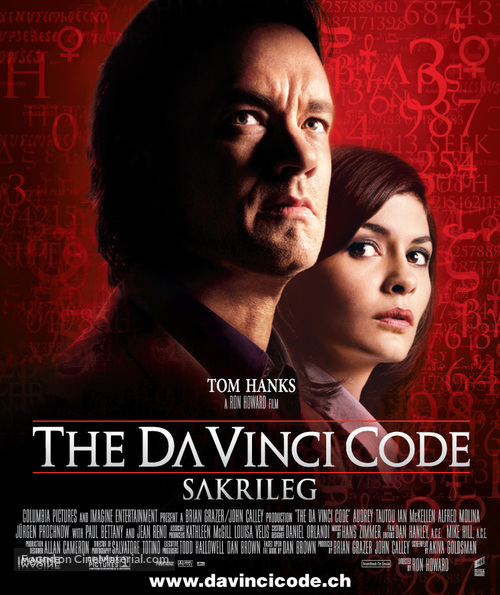 The Da Vinci Code - Swiss Movie Poster