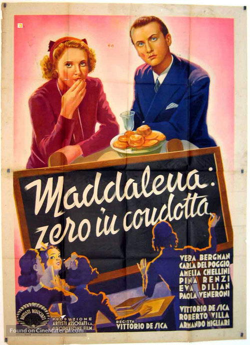 Maddalena... zero in condotta - Italian Movie Poster