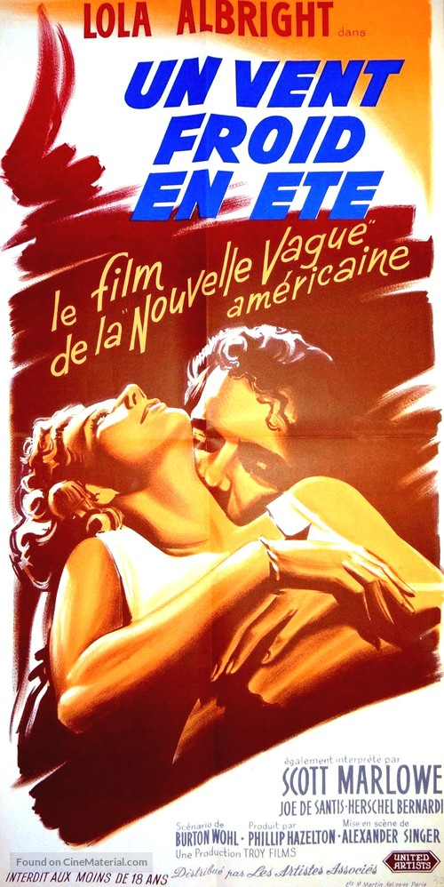 A Cold Wind in August - French Movie Poster