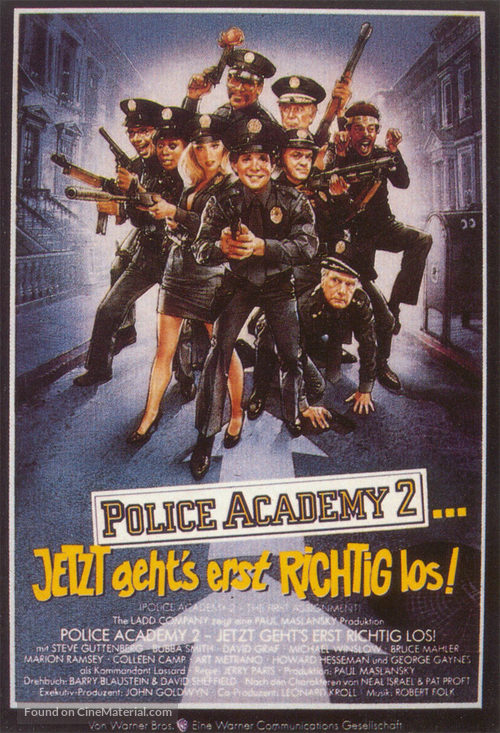 Police Academy 2: Their First Assignment - German Movie Poster