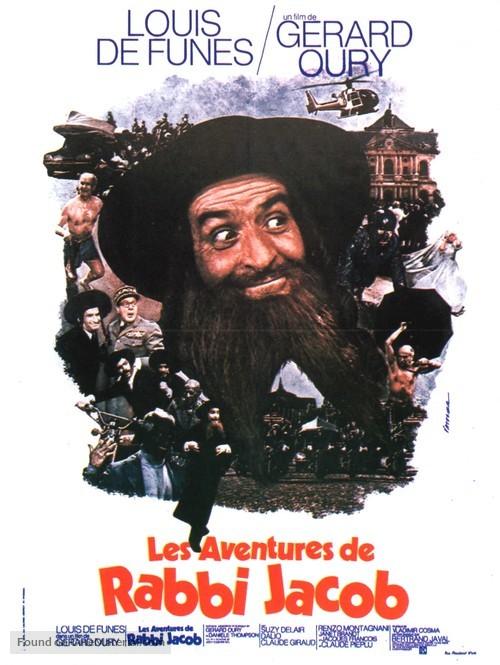 Les aventures de Rabbi Jacob - French Movie Poster