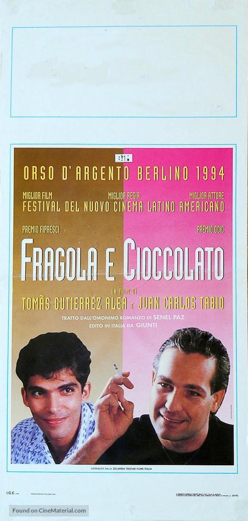 Fresa y chocolate - Italian Movie Poster