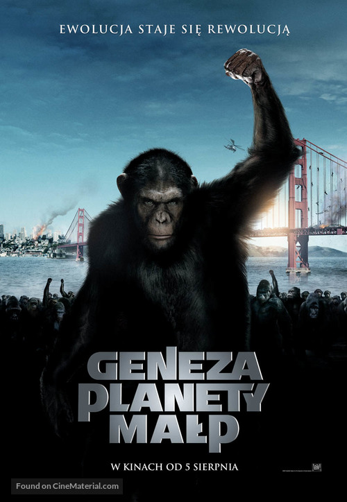 Rise of the Planet of the Apes - Polish Movie Poster