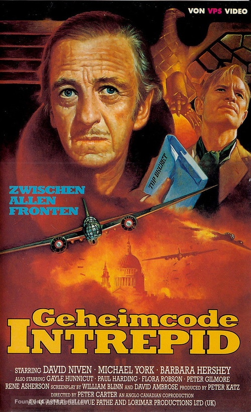 A Man Called Intrepid - German VHS movie cover