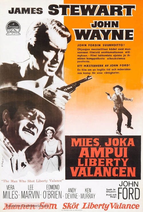 The Man Who Shot Liberty Valance - Finnish Movie Poster