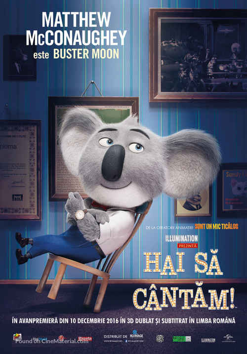 Sing - Romanian Movie Poster