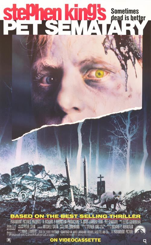 Pet Sematary - Video release movie poster