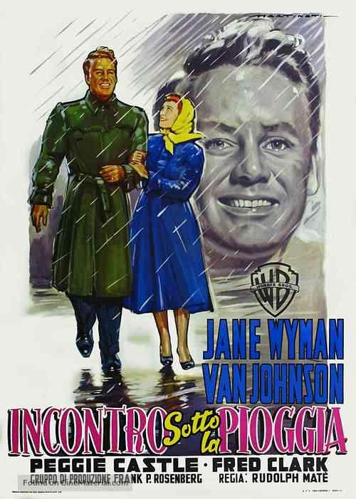 Miracle in the Rain - Italian Movie Poster