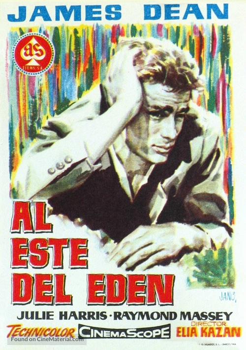 East of Eden - Spanish Movie Poster
