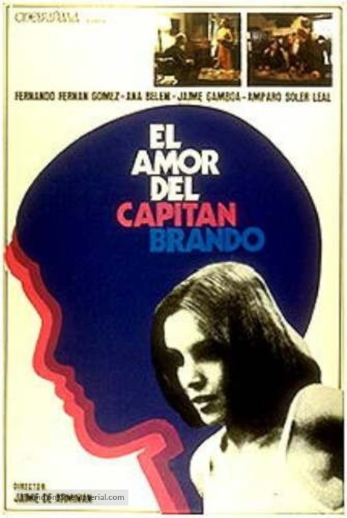 Amor del capitán Brando, El - Spanish Movie Poster