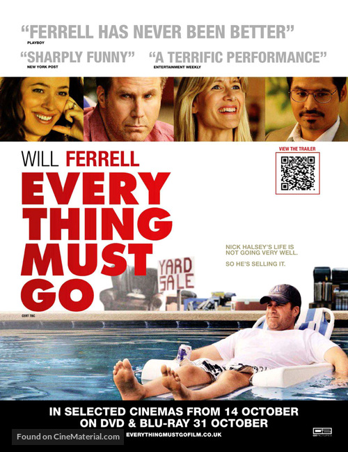 Everything Must Go - British Movie Poster